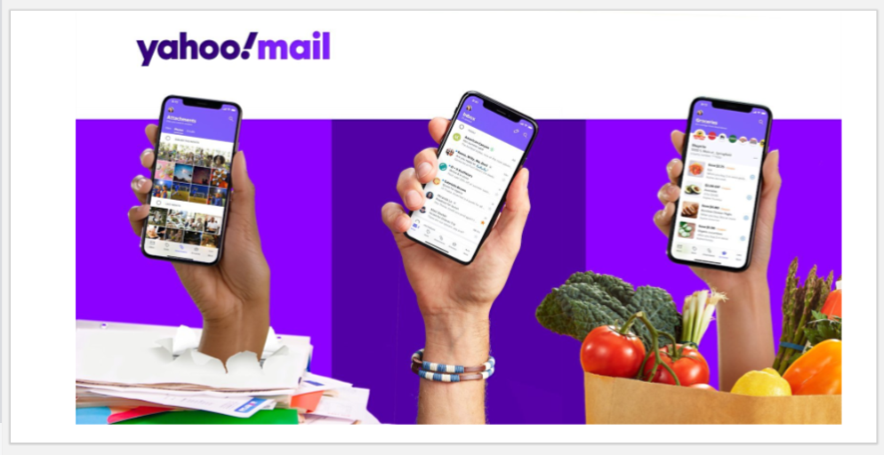 Yahoo redesigned mail app