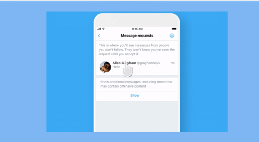 Twitter Introduces a Filter for Offensive DMs