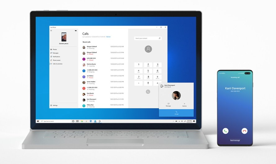 Newest Windows 10 Preview Supports Android Phone Calls on Desktop