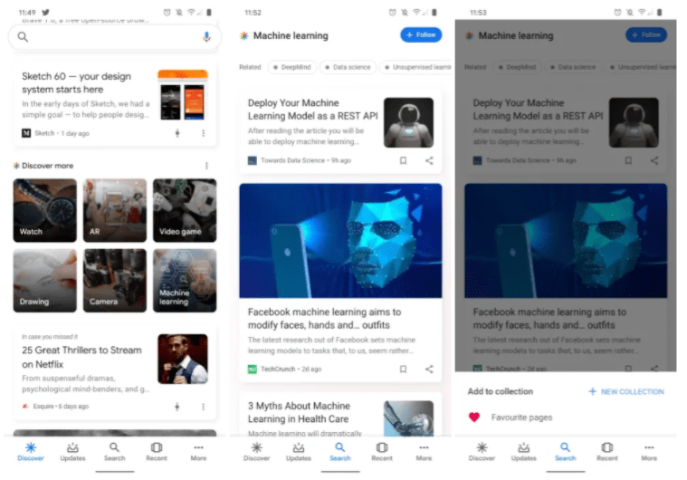 The Google App is Now Recommending more Interests for Users to Follow