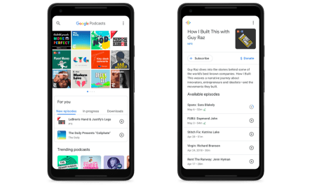 Google Podcasts personalized recommendations