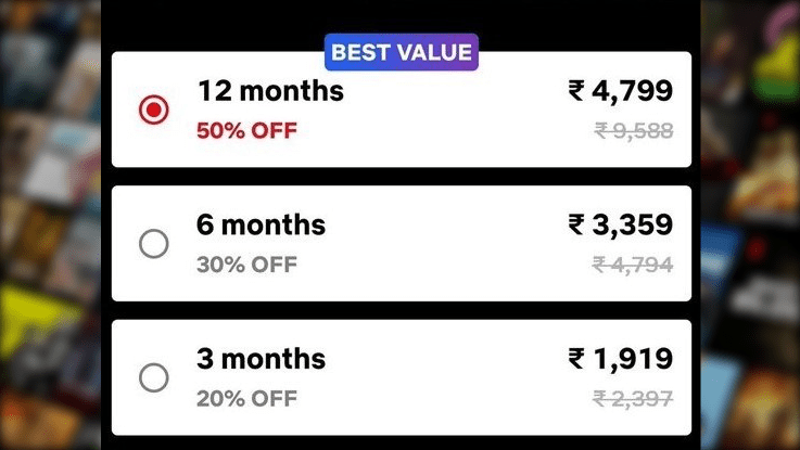 Netflix Experimenting with a Newer, Cheaper Pricing Structure in India, with Long-Term Plans Up to 50 Percent Off