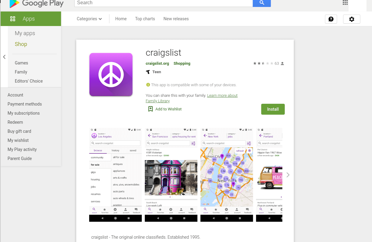 Craigslist Released its First Official Mobile App Last Week, and ...