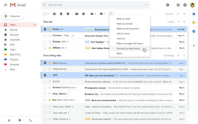 Gmail can Now Add Email as Attachments to Reduce Forwarding Multiple Messages