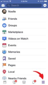 old Facebook menu look