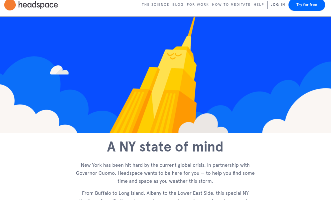 Headspace Offering Free Access to Meditations, Mindfulness Exercises, and Sleep Experiences