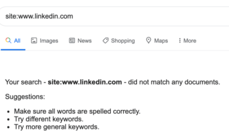 LinkedIn Temporarily Disappears from Google Search