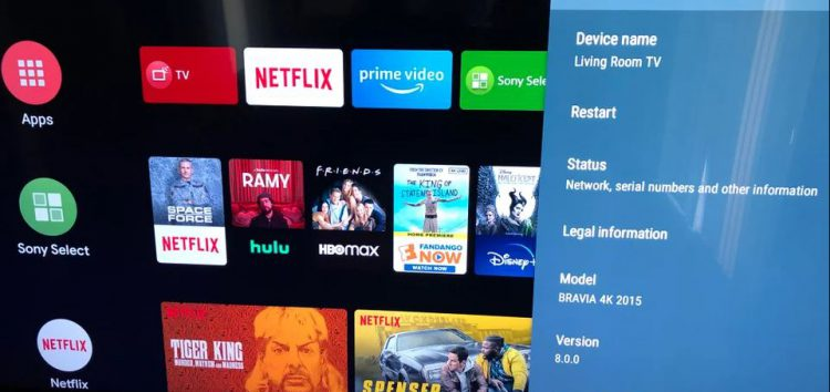 2015 Sony Android TVs are Receiving Software Updates — to 2017's Android 8 Oreo — in 2020