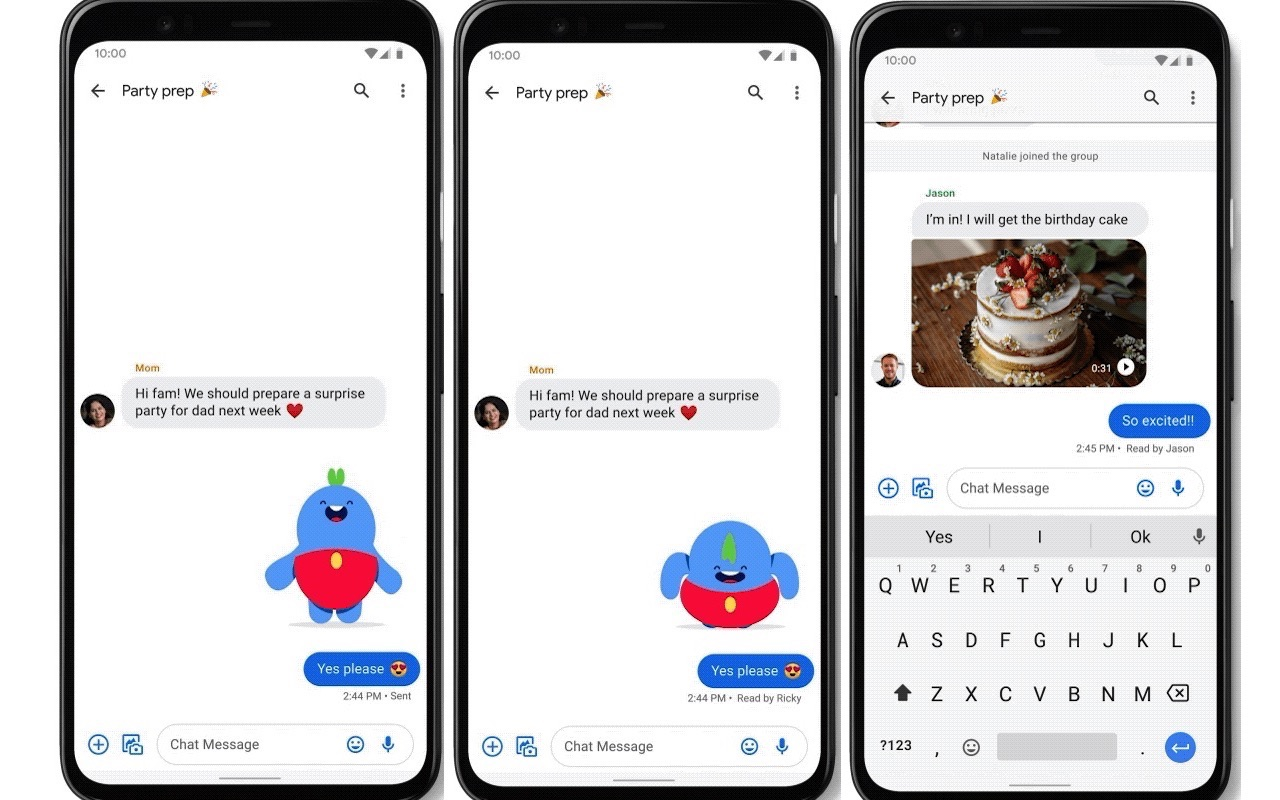 Google Messages App Adds Reactions and a Photo Editor