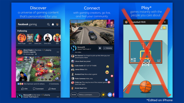 Facebook Gaming iOS App Released, but without Actual Games