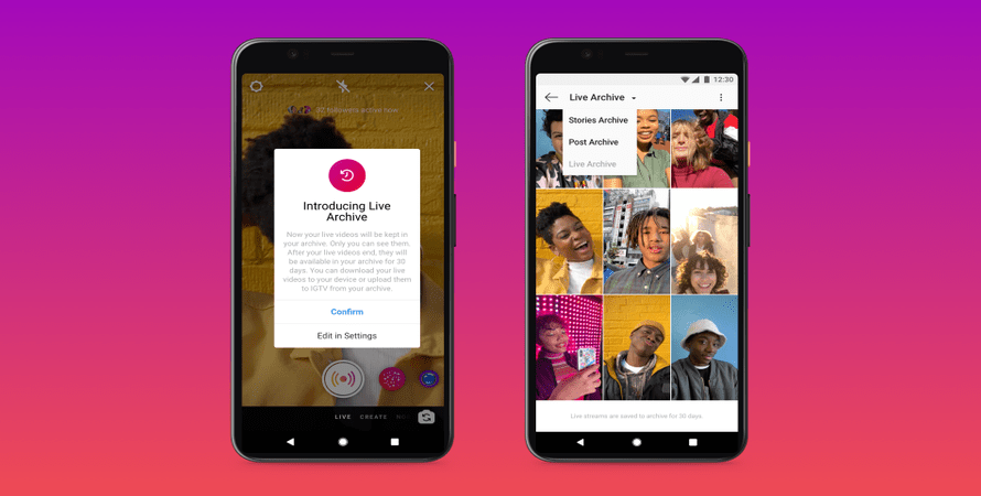 Instagram Extends its Live Stream Length from One Hour to Four and Ups Archives to 30 Days