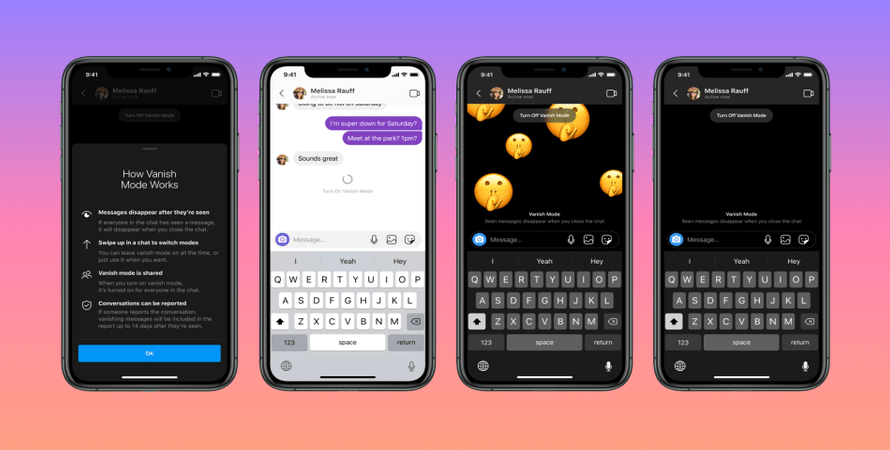 Both Instagram and Messenger Receive a New 'Vanish Mode' for Disappearing Chats