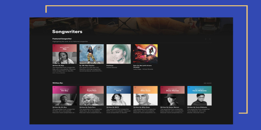 New Spotify Songwriters Hub takes Listeners Behind the Scenes