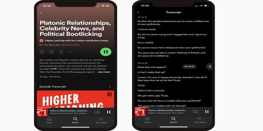 Spotify Auto Podcast Transcription Feature Rolls Out in Beta to iOS and Android