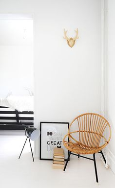 Retro rotan chair