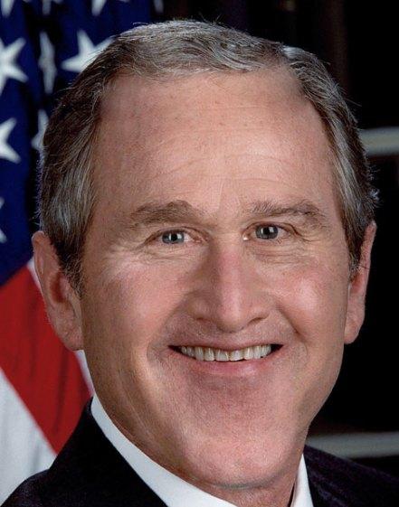 President George W Bush deformed face