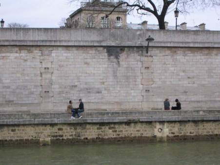 Paris City Photo - People on the other side de la Seine