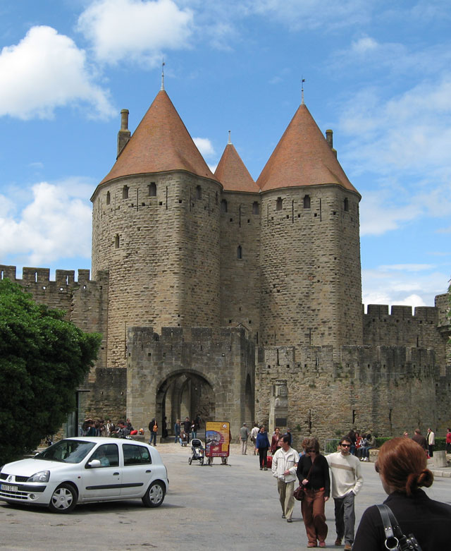 The medieval fortified city with Chateau Comtal ... |Uzziahs Fortified Cities