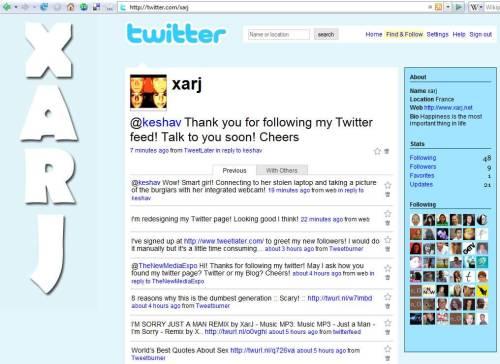 Xarj Twitter Page