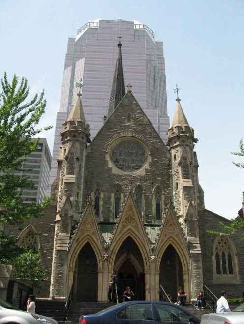 Church in center of Montreal