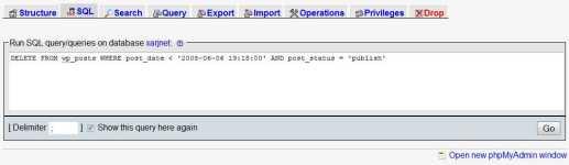 Mass Delete SQL