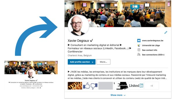 Différences profil Linkedin