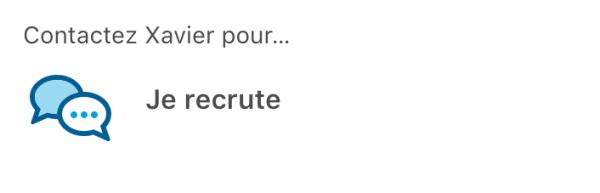 je recrute profil Linkedin