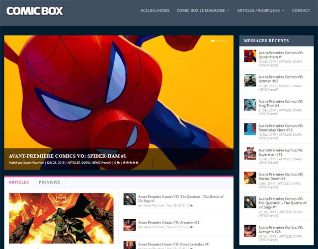 Comic Box à nouveau en ligne