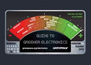Le guide de Greenpeace pour une électronique plus écologique.