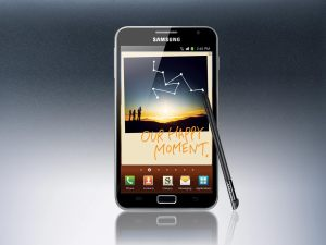 Le Samsung Galaxy Note, vendu à un million d'exemplaires.