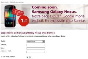 Le Galaxy Note pour début décembre en Suisse?