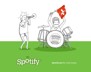 Le service d'écoute en ligne Spotify débarque en Suisse.