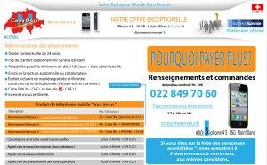 Medinex propose du Sunrise illimité pour 25 francs par mois sur Genève.