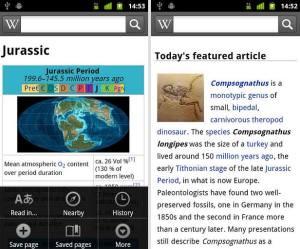 L'application officielle de Wikipedia sur l'Android Market.