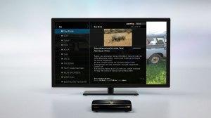 Zattoo peut aussi être utilisée avec le boîtier de VideoWebTV.