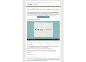 Lorsque Google veut qu'on introduise plus de publicité sur son site...