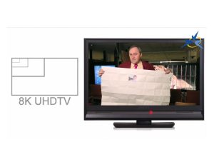 La surface d'une image UHDTV 8K comparée à la TV HD actuelle.