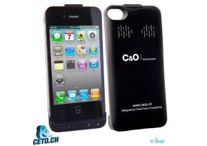 La coque chargeur et haut-parleur pour iPhone 4 et iPhone 4S.