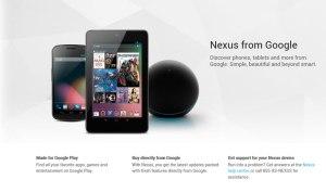 La gamme Nexus de Google avec sa tablette Seven et le Player Q.
