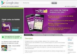 Fidall sur Google Play.