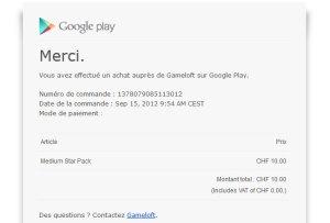 Asphalt 7 de Gameloft: gratuit sur Galaxy SIII. Attention toutefois aux achats par mégarde...