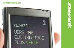 Greenpeace pour une électronique plus écologique.