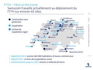 Fibre optique en Suisse: les chantiers de Swisscom.