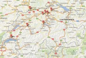 Les succursales de Digitec en Suisse.