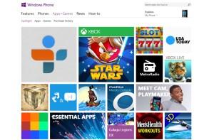 Windows Phone: entre 120'000 et 150'000 applications.