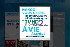 Naxoo: l'internet à vie et 300 chaînes de TV.