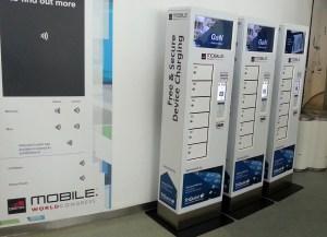 MWC de Barcelone: des armoires pour charger son smartphone.