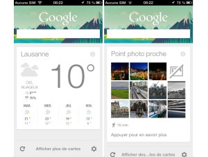 Google Now sur iPhone et iPad.