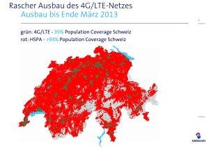 4G / LTE: 159 localités couvertes en Suisse par Swisscom.