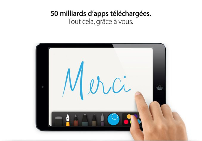 Plus de 50 milliards d'applications téléchargées sur l'App Store d'Apple.